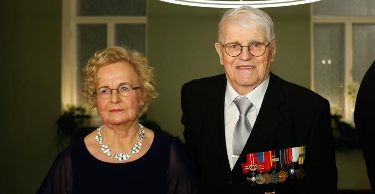 Unto Nikunen juhli syntymäpäiväänsä Linnan juhlissa.