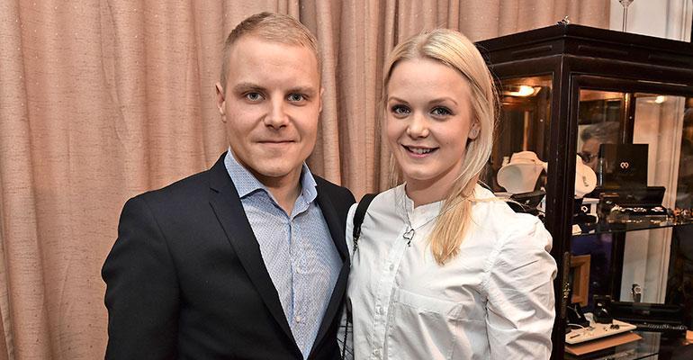Valtteri ja Emilia Bottas