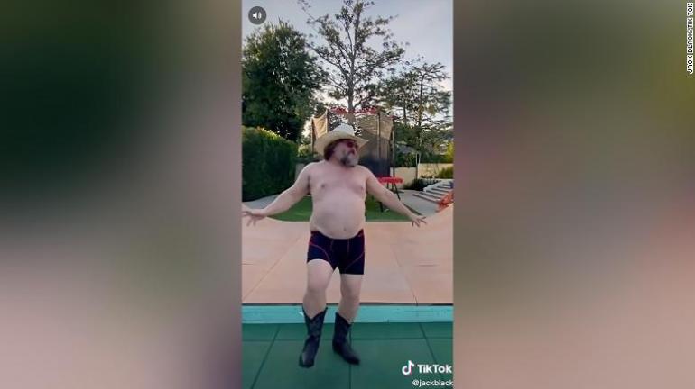 Jack Black debyyttivideo TIkTokissa