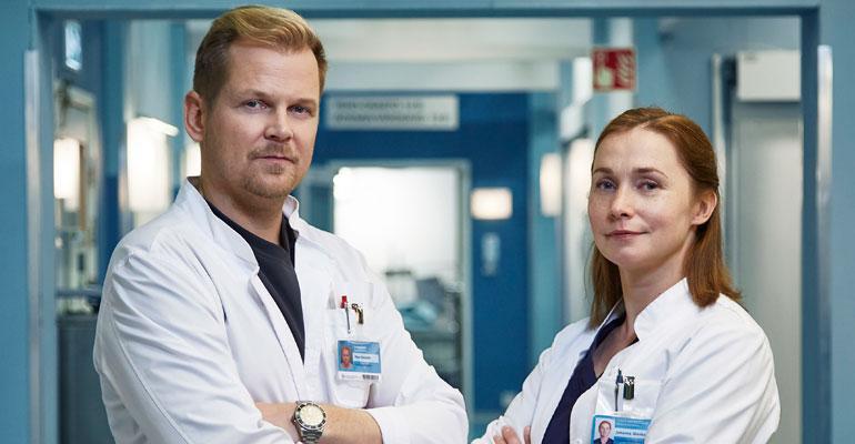Syke sarja 7 kausi promo kuvia Antti Luusuaniemi ja Leena Pöysti.
