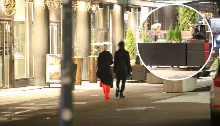 Susanna Koski ja Jussi 69 poistuivat Linnan jatkoilta.