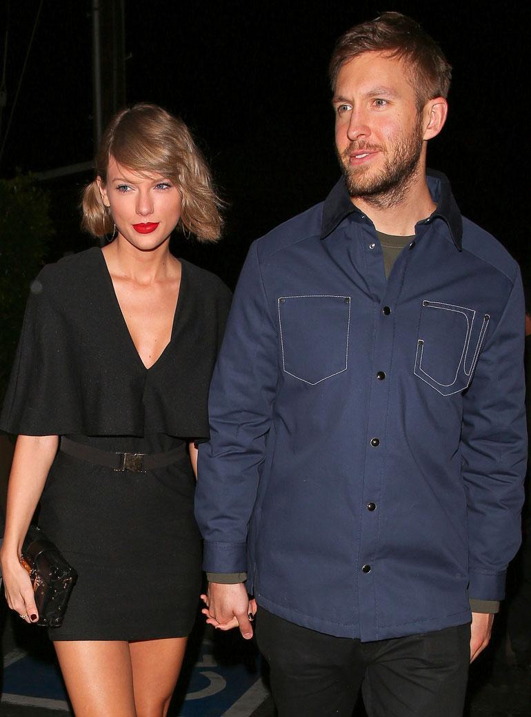 Taylor Swift ja Calvin Harris käsi kädessä