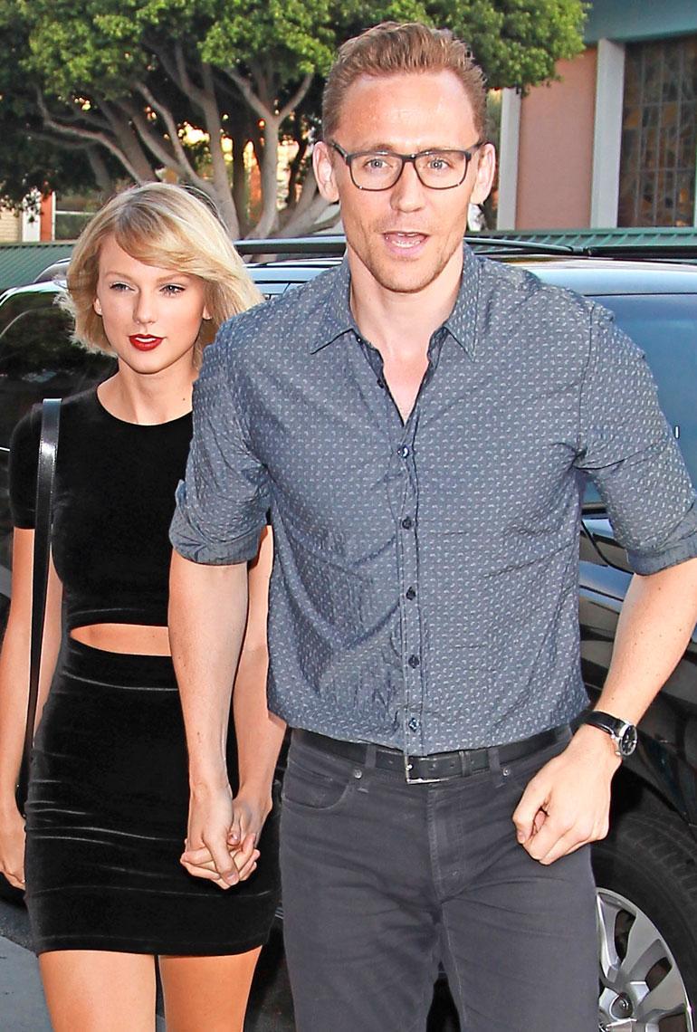 Taylor Swift ja Tom Hiddleston käsi kädessä