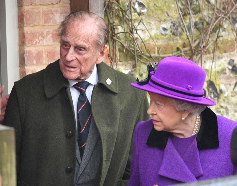 Kuningatar Elisabet ja prinssi Philip Norfolkissa tammikuussa 2017