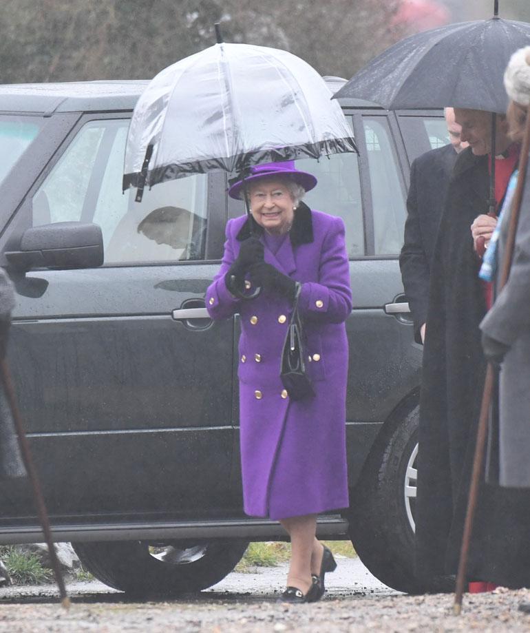 Kuningatar Elisabet Norfolkissa tammikuussa 2017