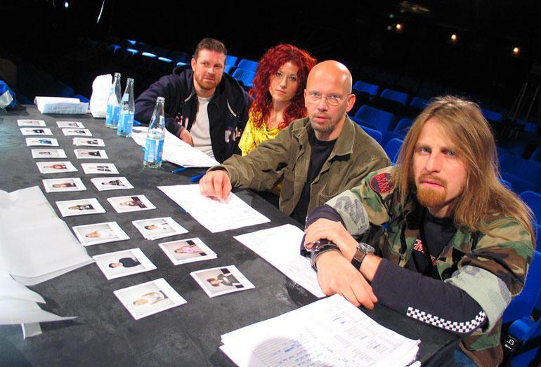 Ensimmäiset Idols-tuomarit poseeravat vuonna 2003