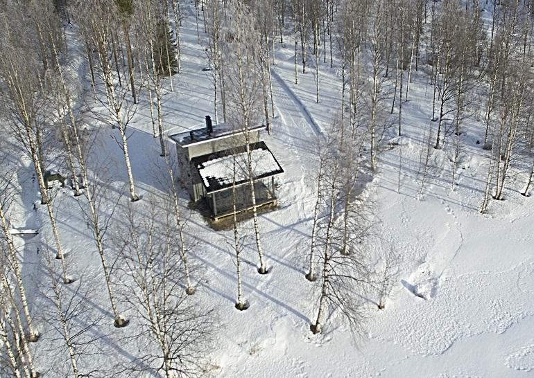 Kerttu Niskasen ja hänen Juho-kihlattunsa mökki sijaitsee Sotkamossa.