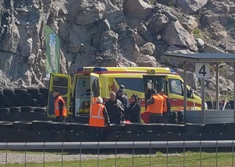 JJ Lehto karting-onnettomuudessa Vantaalla.