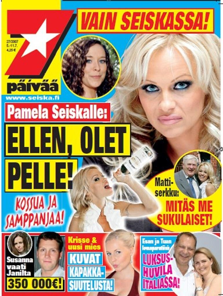 Pamela kannessa.