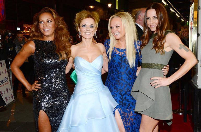 Mel B (vas.) eli Melanie Brown Spice Girlsien kulta-aikoina 1990-luvulla.