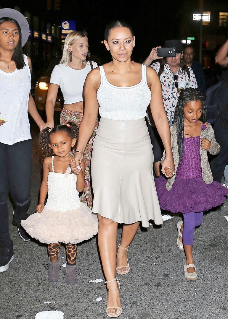 Mel B ja tyttäret Madison ja Angel