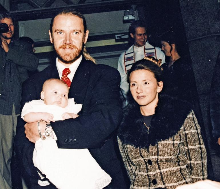 Rennyn ja Tiffanyn Luukas-pojan ristiäiset.