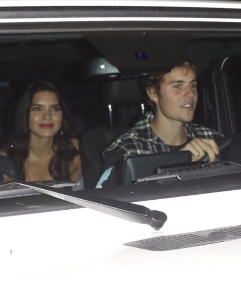 Justin Bieber Paola Paulin autossa