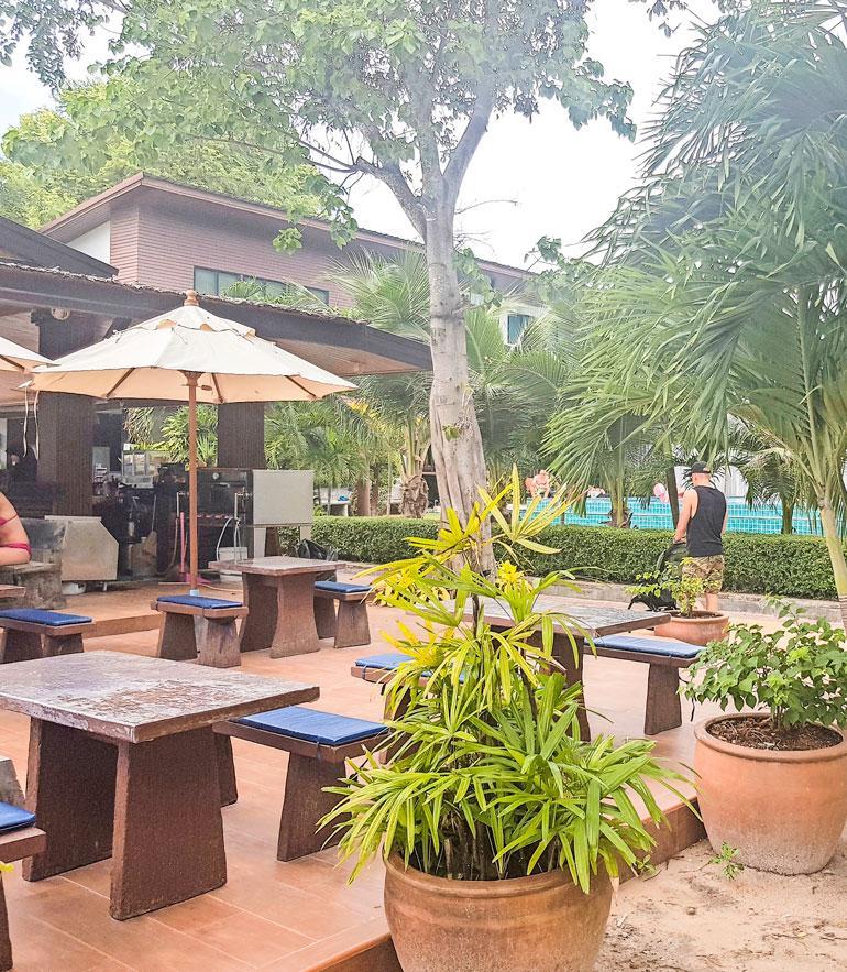 Elastinen lomaili Phi Phi Villa Resort -hotellissa.