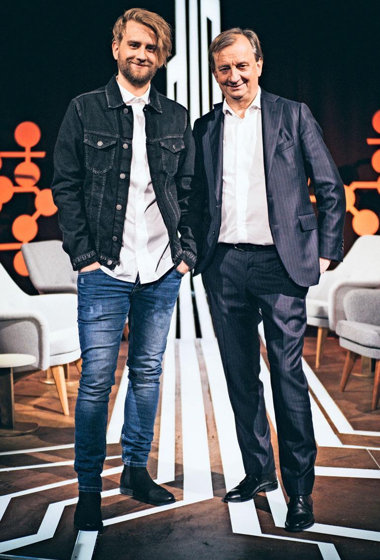 Joel kertoo purkittavansa Harkimot -talk show'n viimeisiä jaksoja Hjalliksen kanssa. Isän ja pojan yhteinen ohjelma pyörii TV5:llä.