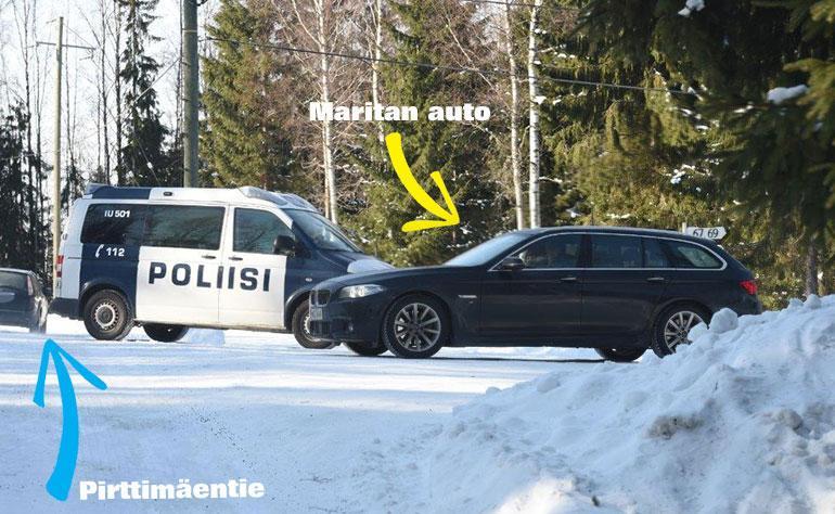 Poliisi siirsi Taavitsaisen auton