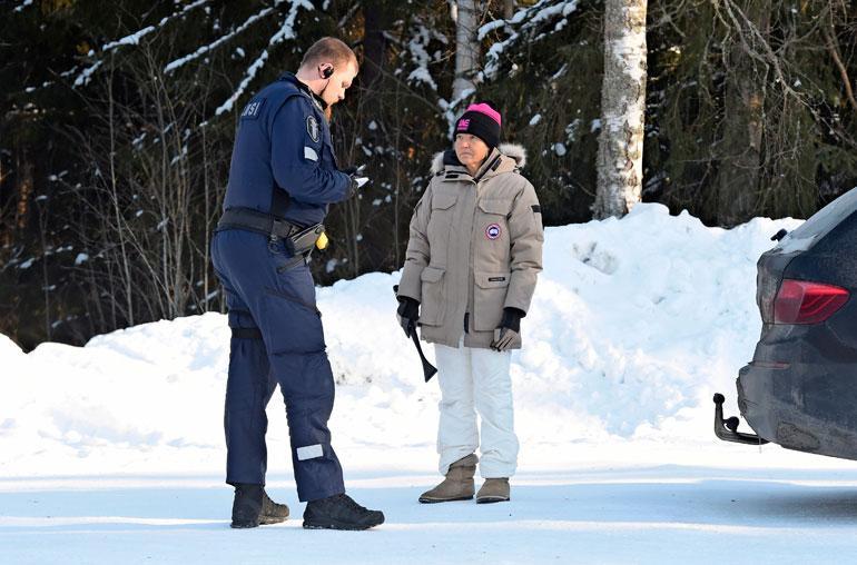 Poliisi nappasi Marita Taavitsaisen.