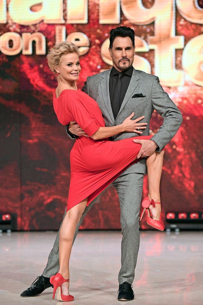 Hanna Karttunen sai tanssiparikseen saippuasarjatähti Don Diamontin.