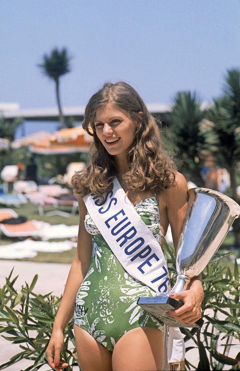 Riitta Väisänen Miss Eurooppa -kilpailussa vuonna 1976.