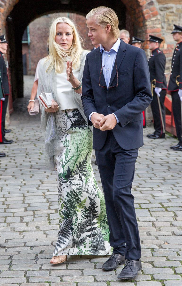 Kruununprinsessa Mette-Marit ja Marius Borg Höiby