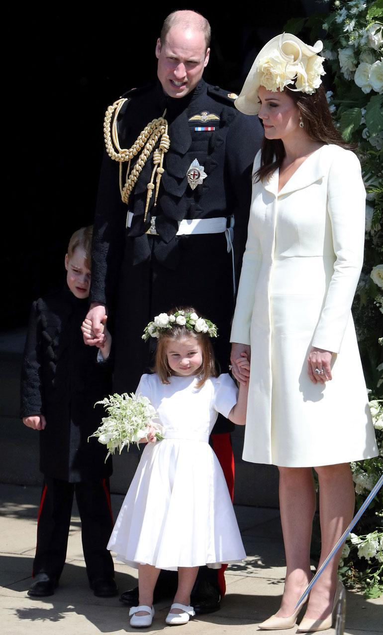 Herttuapari William ja Catherine, prinssi George ja prinsessa Charlotte