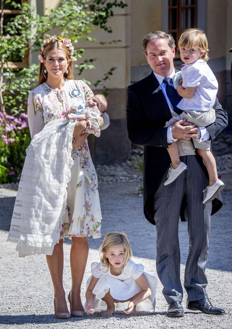Ruotsin prinsessa Madeleine, Adrienne, Leonore, Chris O'Neill ja prinssi Nicolas
