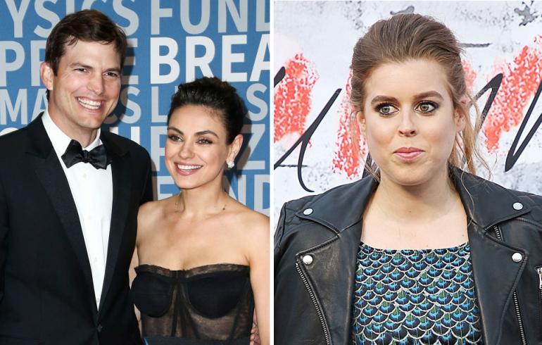 Mila Kunis, Ashton Kutcher ja Ison-Britannian prinsessa Beatrice