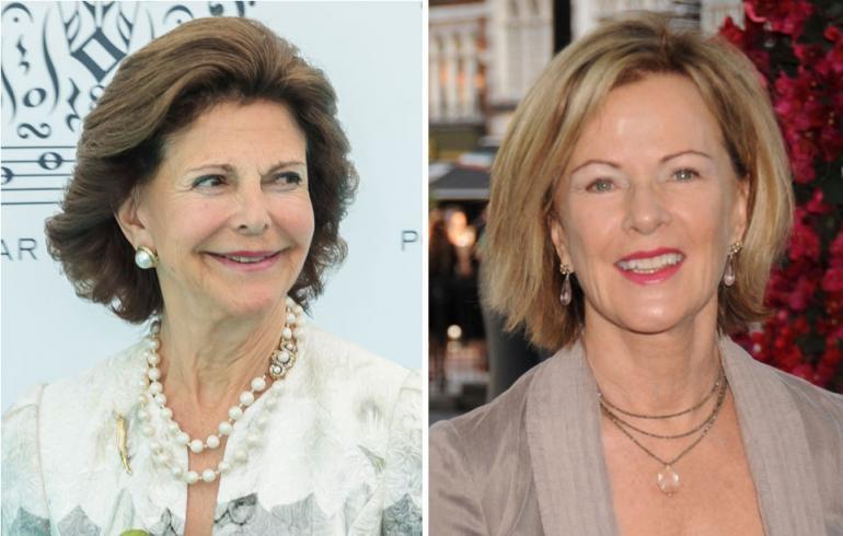 Ruotsin kuningatar Silvia ja Anni-Frid Lyngstedt