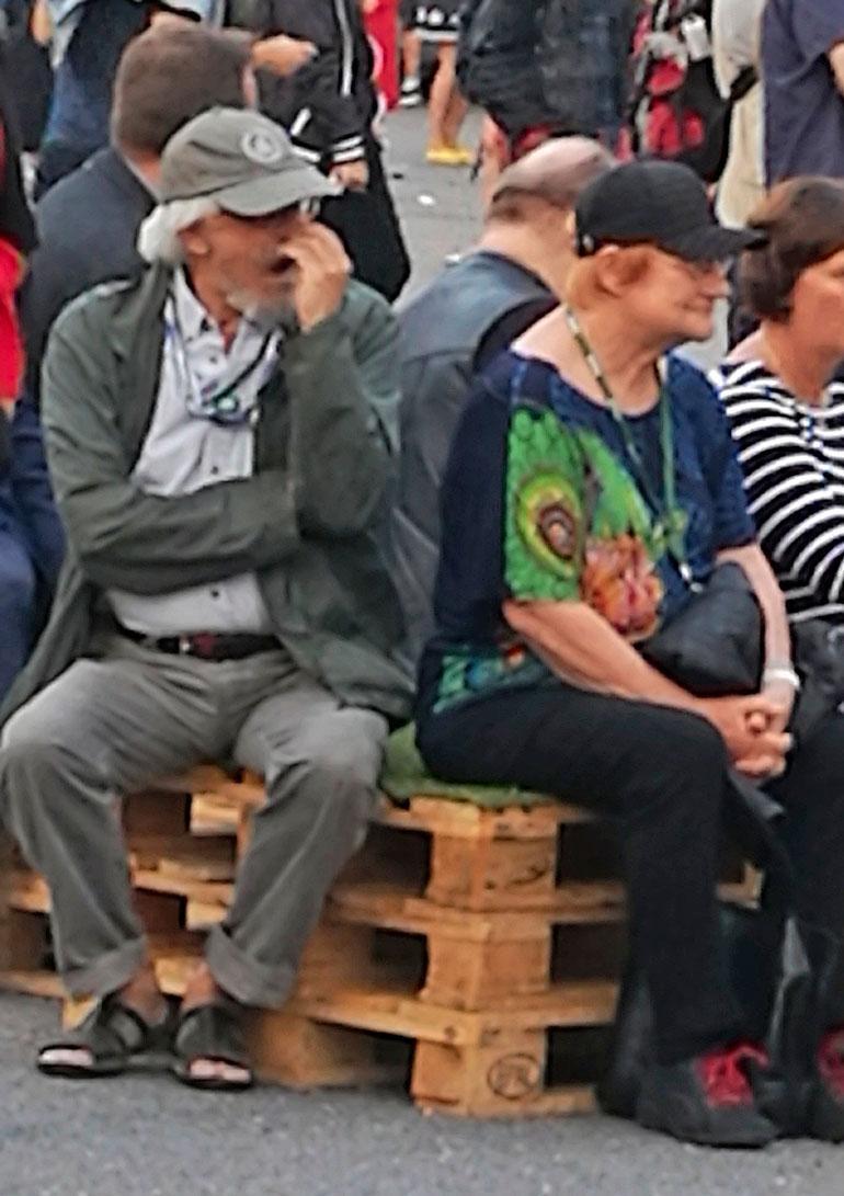 Pentti Arajärvi haukotteli.