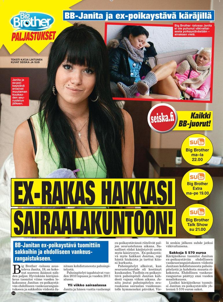 SEISKA 36/2012 Janita on kokenut kovia rakkausrintamalla.