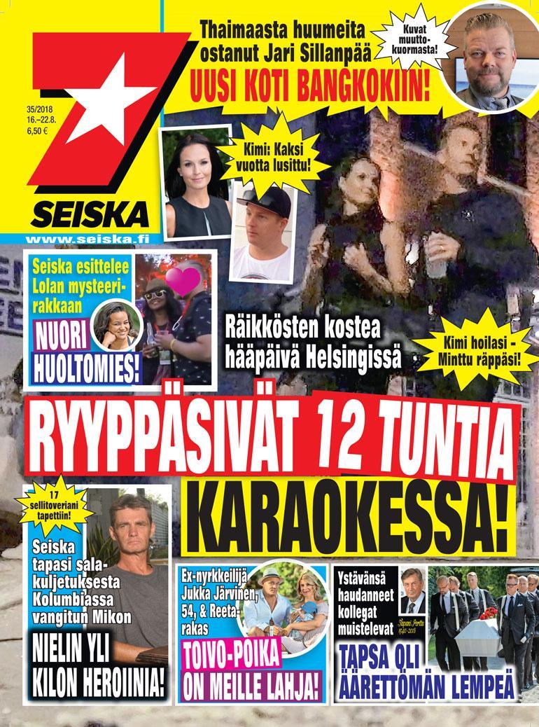 Kimi ja Minttu Räikkönen Seiskan kannessa.