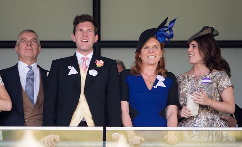 Prinssi Andrew, Jack Brooksbank, Sarah Ferguson, prinsessa Eugenie