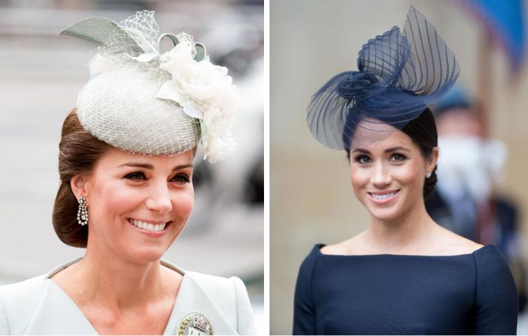 Cambridgen herttuatar Catharine ja Sussexin herttuatar Meghan