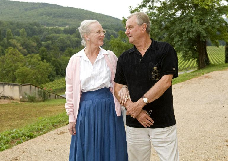 Tanskan kuningatar Margareeta ja prinssi Henrik