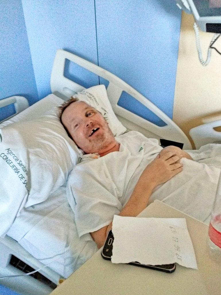 Mikon syöksykierre johti sairaalahoitoon.
