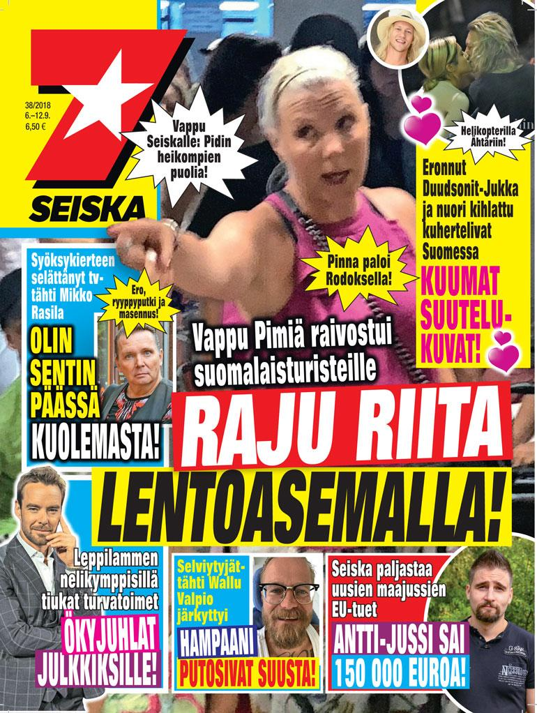 Jukka Hilden Seiskan kanssa.