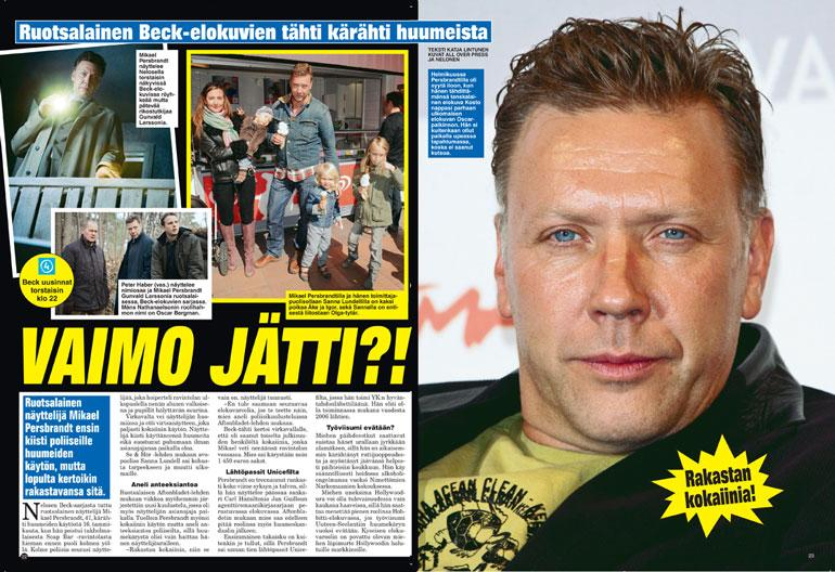 SEISKA 12/2011 Mikaelin huumeongelmat löysivät tiensä myös Seiskan sivuille seitsemän vuotta sitten.