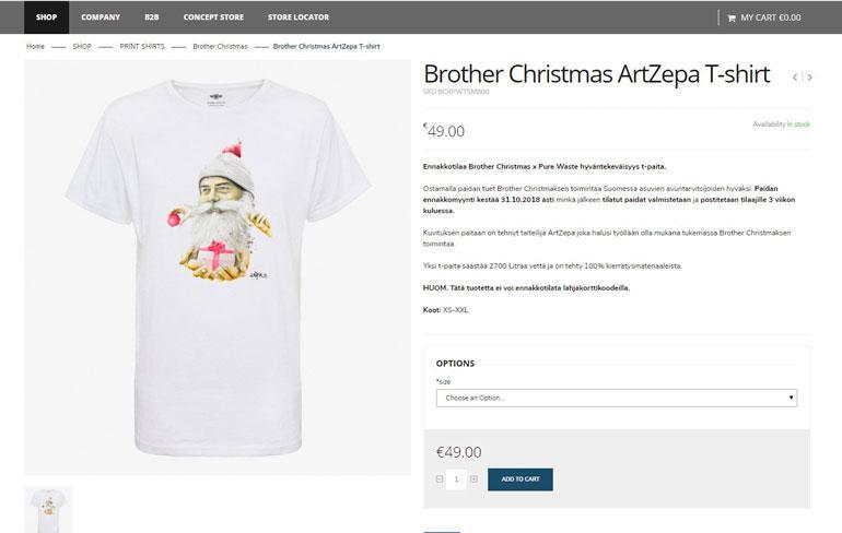 Jostain syystä 49 euroa maksavia t-paitoja Koponen myy eri kautta kuin rannekkeita, vaikka molempia mainostetaan samoissa päivityksissä. T-paitoja myyvä verkkokauppa ei suostunut paljastamaan, kenelle tuotot maksetaan.