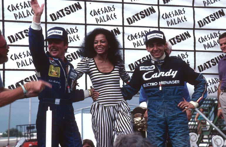 Keke juhlimassa mestaruutta vuonna 1982.