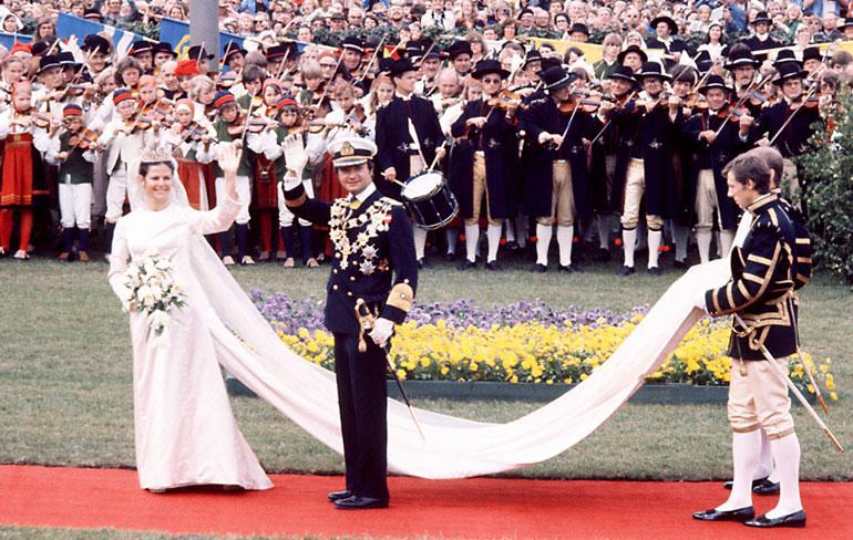 Ruotsin hallitsijapari Kaarle Kustaa ja Silvia