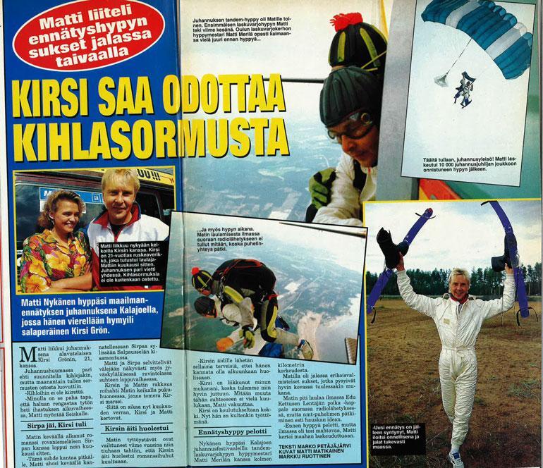 Seiska 26/1993 Juhannuksena Matin keikoilla näähtiin pohjalaiskaunotar Kirsi Grön.