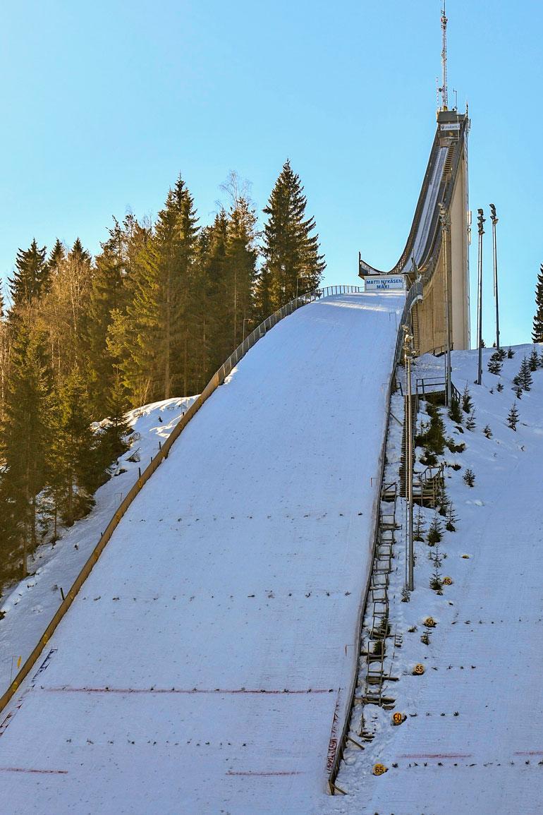 Jyväskylän Laajavuorella sijaitsee kaikkien aikojen mäkimiehen nimikkomäki, Matti Nykäsen mäki.