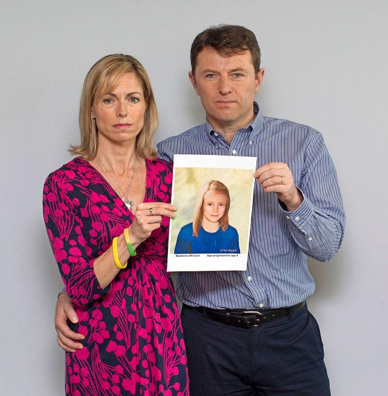 Vanhemmat Kate ja Gerry McCann esittelivät vuonna 2012 tietokoneella tehtyä kuvaa, miltä Maddy mahdollisesti näyttäisi 9-vuotiaana.