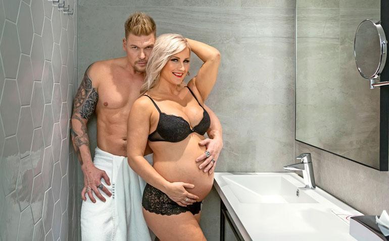 Rita on treenannut koko raskausaikansa. – Minun pitäisi jo keventää liikkumista. Raskaus on tehnyt minusta vähän kömpelön.