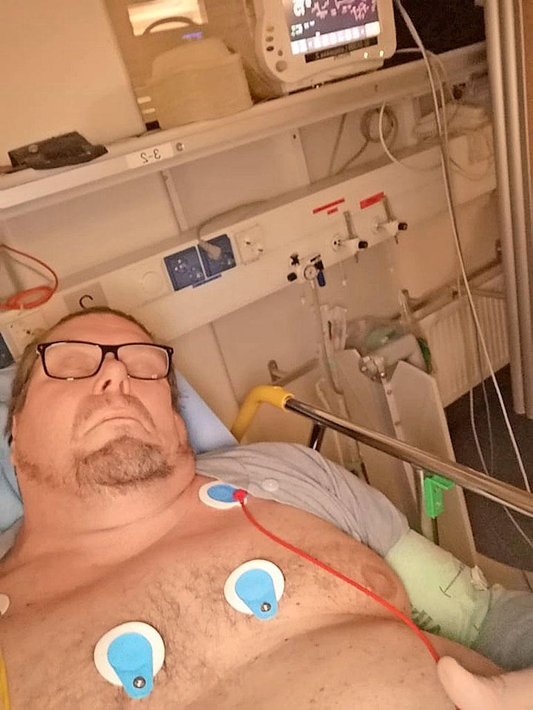 Henry Saari kiidätettiin sairaalaan.