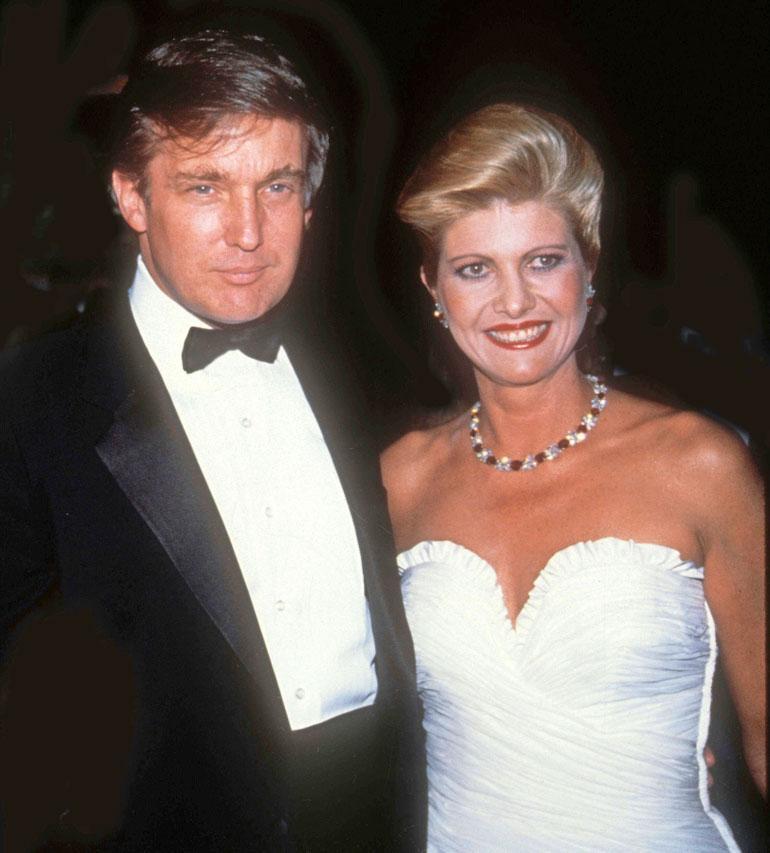 Donald Trump ja Ivana.
