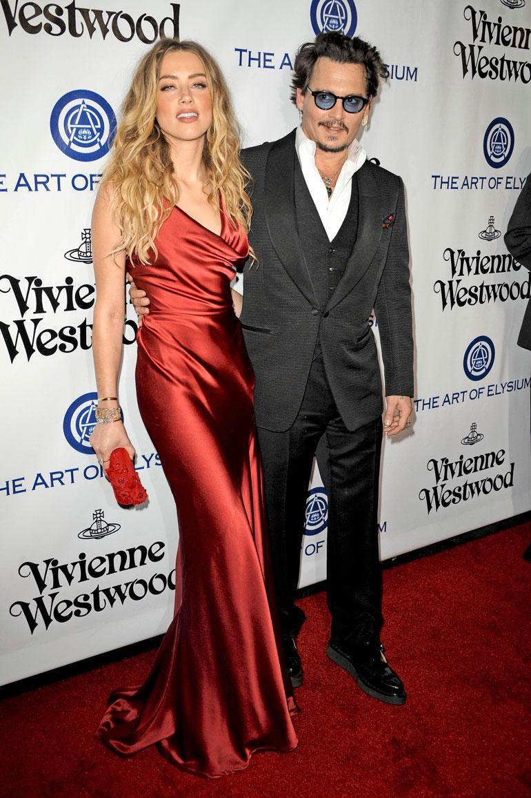 Johnny Depp ja Amber Heard.
