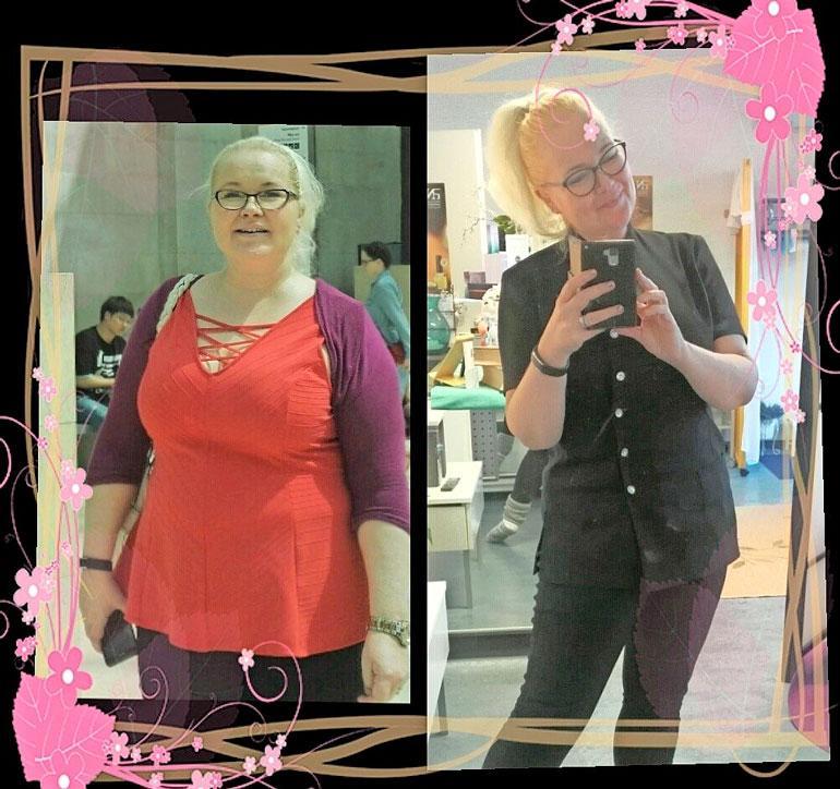 Kati julkaisee Facebookissa ennen ja nyt -kuvapareja, jotka kannustavat laihduttamisessa. Katia voi seurata Katyn ketoelämää -Facebook-tilillä.