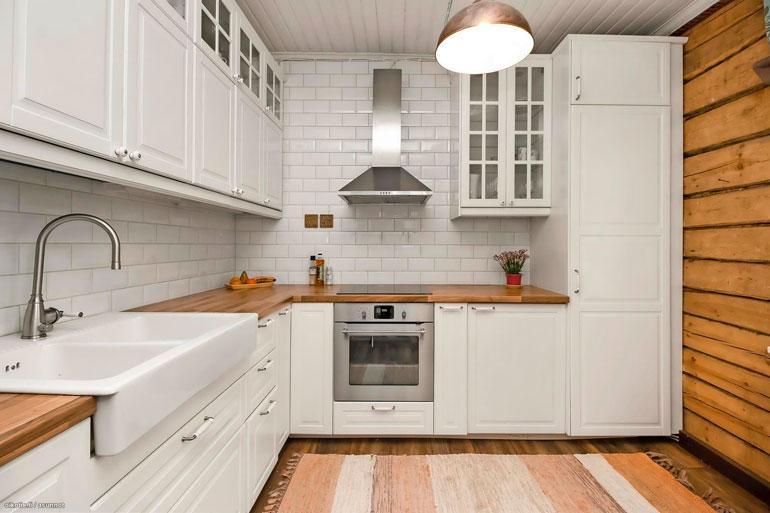 Talon keittiö on laitettu viimeisen päälle kuntoon.