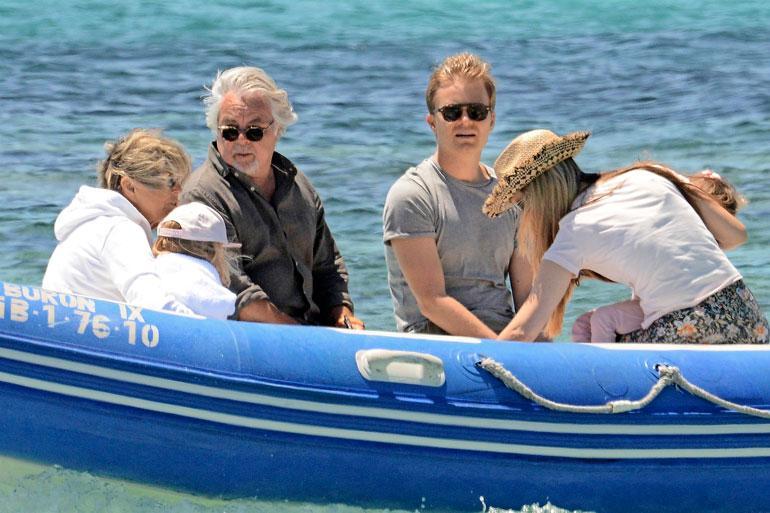 Mukana oli myös Nicon isä Keke Rosberg ja tämän vaimo Sina.